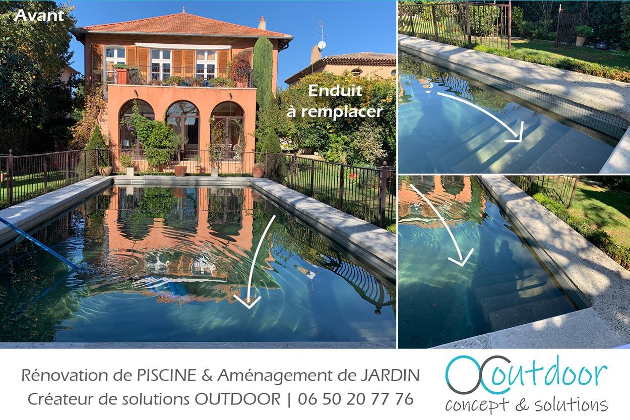piscine avant renovation