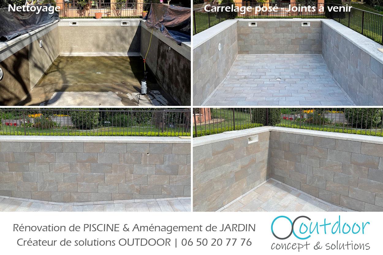 piscine en cours de renovation