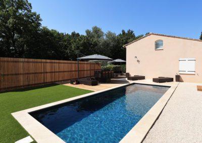 #OCS#8M   Construction de piscine moderne & aménagements extérieurs
